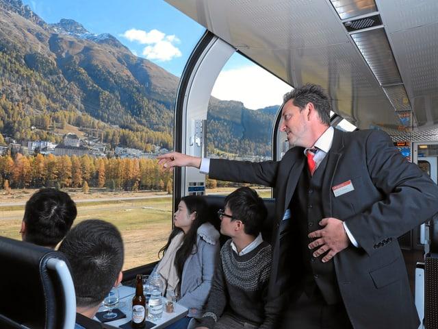 persunal en il tren.