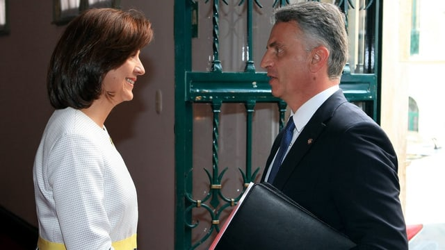 Burkhalter und kolumbianische Ministerin