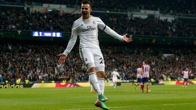 Jesé Rodriguez bejubelt seinen Treffer zum 2:0 für die Hausherren.