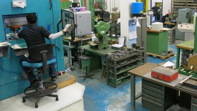 Maschinen bei der Firma Gravura
