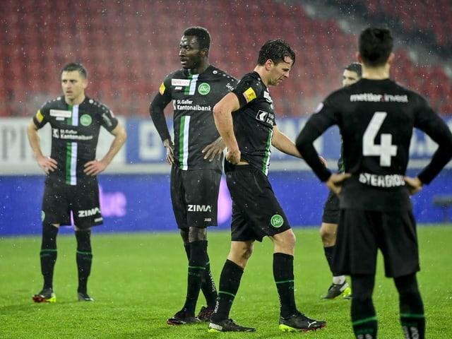 Die Spieler des FC St. Gallen.