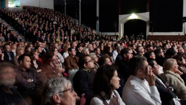 Publikum im Kino