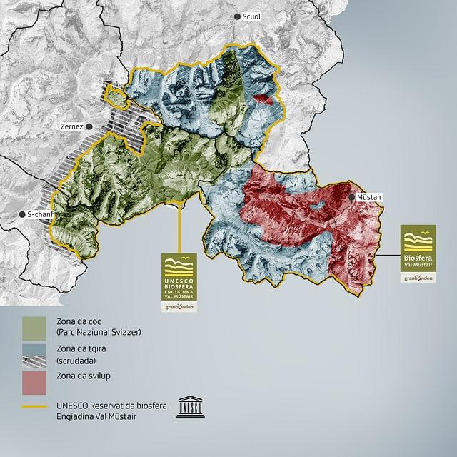 Las zonas novas necessarias per survegnir il label da l'UNESCO.