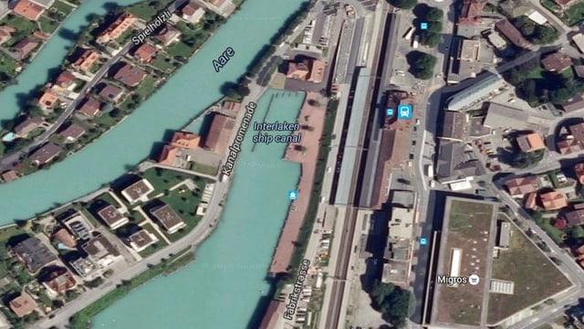 Ein Luftbild des Ortes.