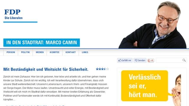 Marco Camin setzt auf Facebook und seine persönliche Homepage.
