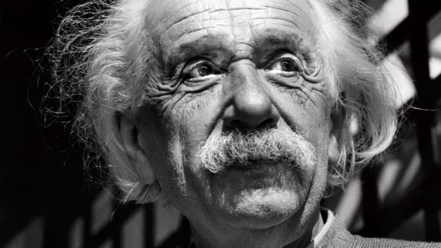 Gesicht Albert Einstein.