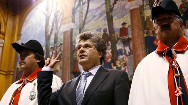 Ivo Bischofberger (PCD/AI) durant la seramentaziun sco president dal Cussegl dals chantuns.