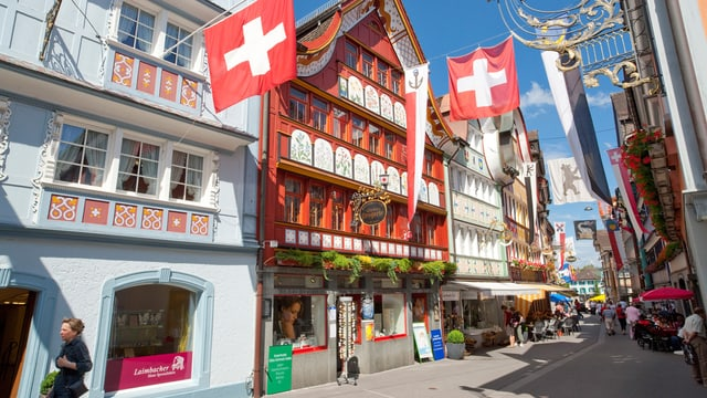 Die Ladenstrasse in Appenzell