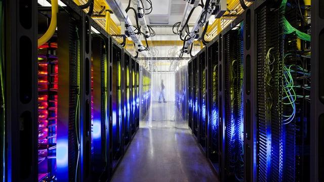Ein Datenspeicher des Internetgiganten «Google» in den USA.