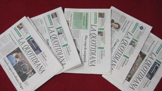 5 ediziuns da «La Quotidiana».