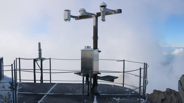 Vollautomatische Wetterstation auf dem Säntis.