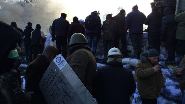 Demonstranten in Kiew.
