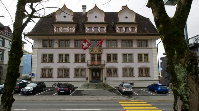 Schwyzer Regierungsgebäude von aussen.