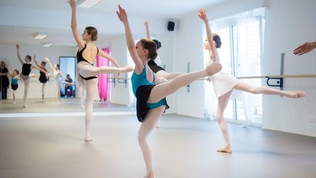 Ballettänzerinnen bei einer Probe