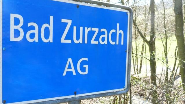 Ortsschild der Gmeinde Bad Zurzach