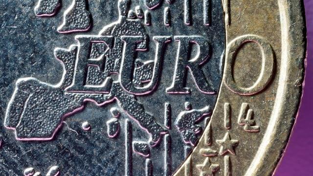 Grossaufnahme einer Euro-Münze