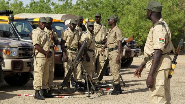 Soldaten aus Burkina Faso in Timbuktu