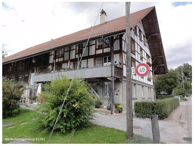 Liegenschaft am Niederbottigenweg in Bern.