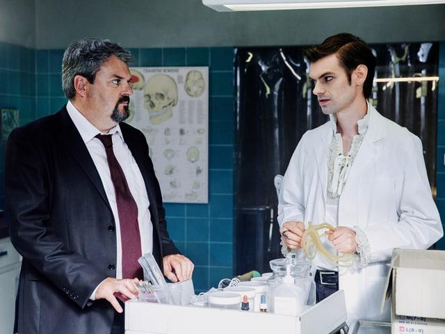 Mike Müller als Luc Conrad und Reto Stalder als Fabio Testi