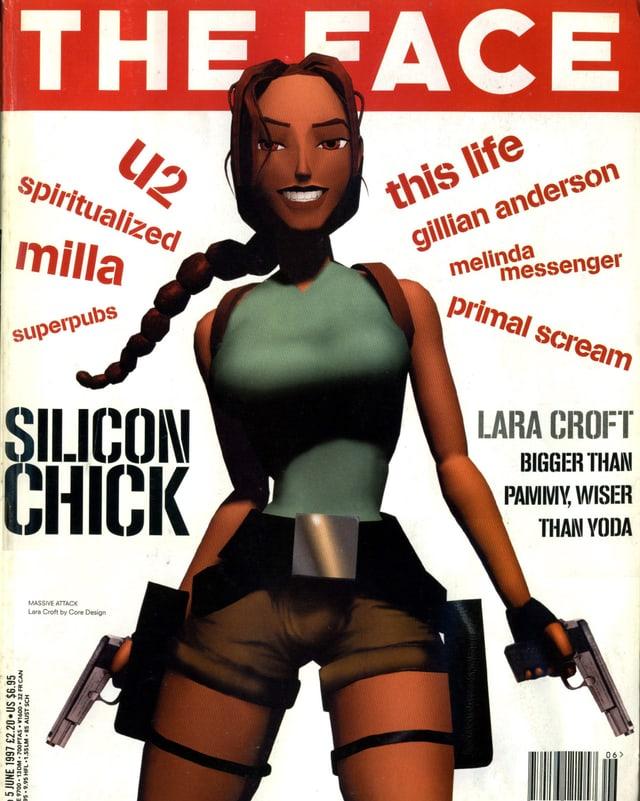 Die Titelseite des englischen Style-Magazins «The Face» mir Lara Croft.