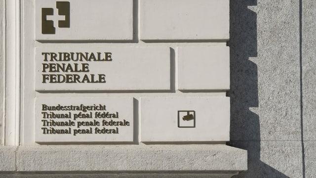 Tribunal penal federal - inscripziun vid la prait