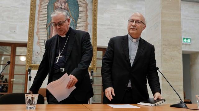 Dus dals 34 uvestgs dal Chile che han offrì lur demissiun durant la visita a Roma.