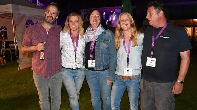 Il comité d'organisaziun (da sen): Curdin Brugger, Pascal Berther, Elvira Deplazes, Ursina Vinzens, Christian Albin