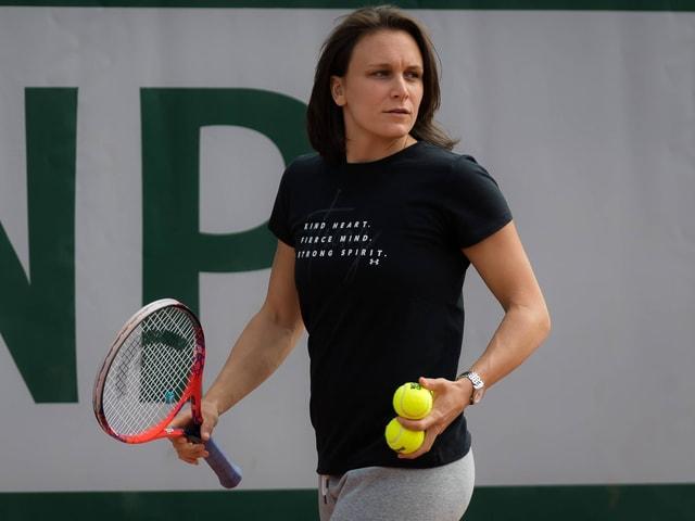 Die Trainerin von Petra Martic.