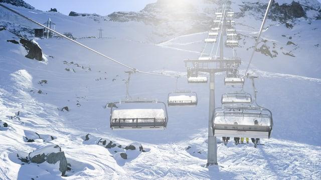 Skilift in Saas-Fee