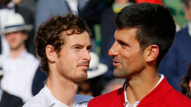Andy Murray (l.) und Novak Djokovic.