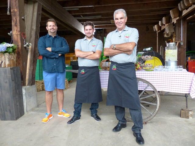 Kenny, Robin und Markus Fischer.