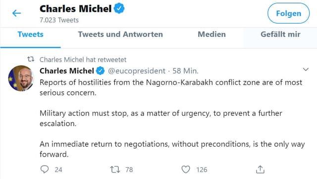 EU und Russland fordern Waffenruhe