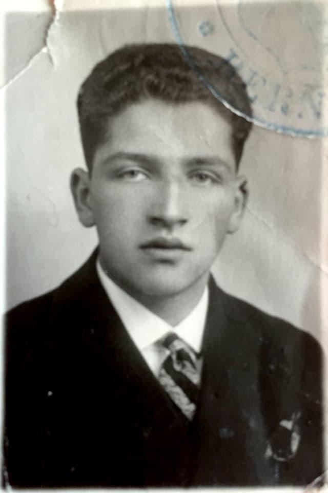 Emil Raas als Schüler
