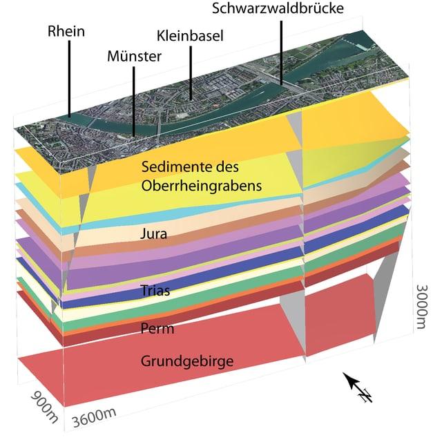 3-D-Modell der Region Basel