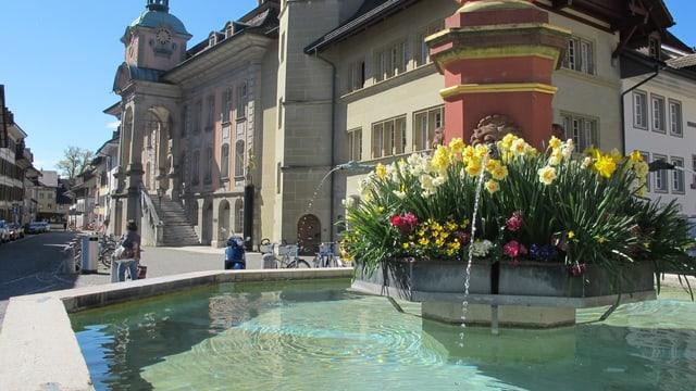 Der Brunnen am Thutplatz in Zofingen