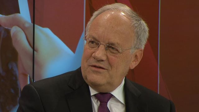 Johann Schneider-Amman in der «SRF-Debate» am WEF.