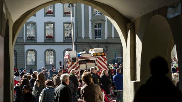 Feuerwehrübung in der Berner Altstadt