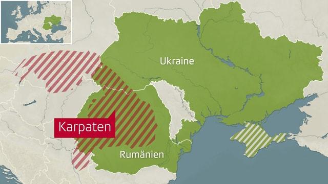 Karte der Karpaten