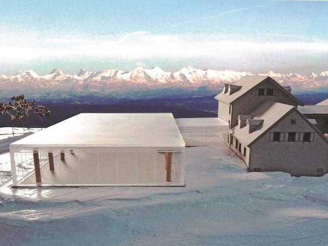 Modell des renovierten Kurhauses mit Panoramahalle.