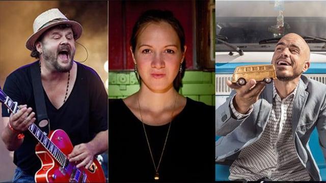 Collage von Bildern von Büne Huber, Sophie Hunger und Dodo