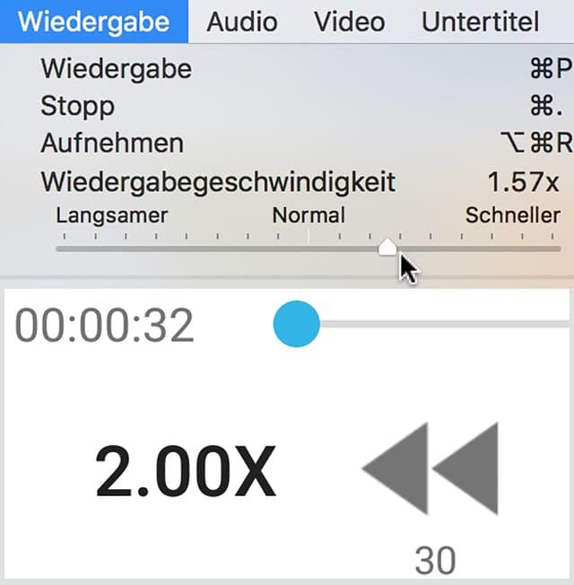 Screenshots zweier Player mit 2.00x-Beschleunigungs-Funktion.