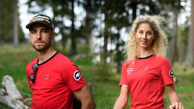 Nino Schurter e Jolanda Neff.