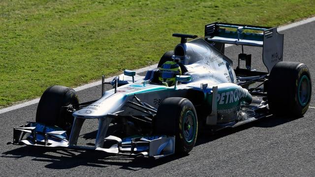 Rosberg auf dem Rundkurs von Jerez de la Frontera.