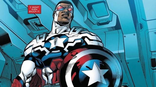 Captain America mit Schild und Flügeln