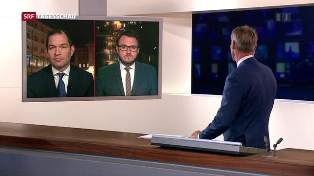«Tagesschau»-Moderator im Gespräch mit SRF-Auslandkorrespondenten