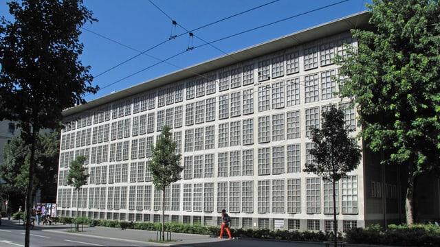 Die Rückseite der Zentral- und Hochschulbibliothek in Luzern