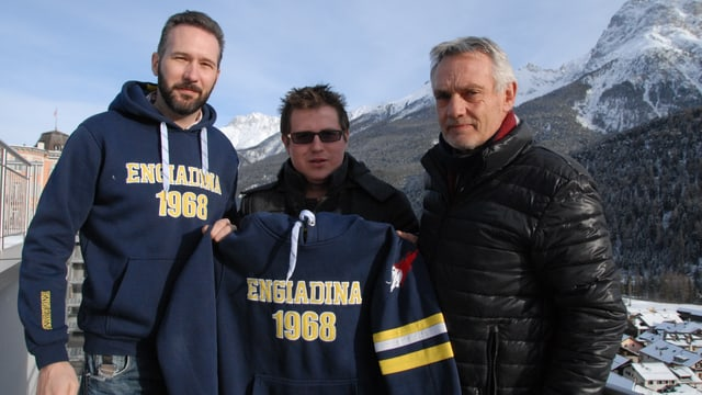Marco Ritzmann President CDH Engiadina (sanester), Oldrich Jindra nov trenader e Jon Andri Huder schef tecnica.