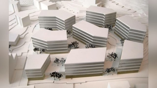 Il plan da quartier per il areal Derby