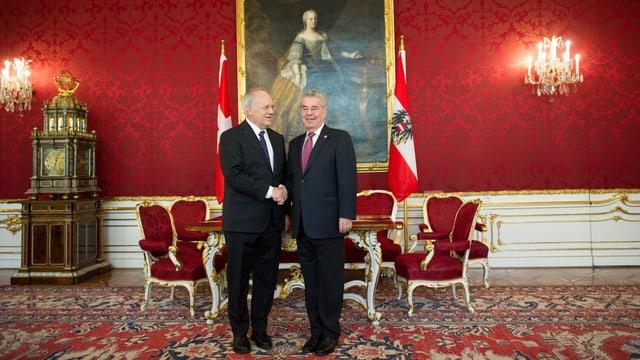 Bundespräsident Johann Schneider-Ammann und sein Amtskollegen Heinz Fischer.