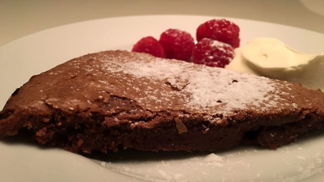Schokoladenkuchen.
